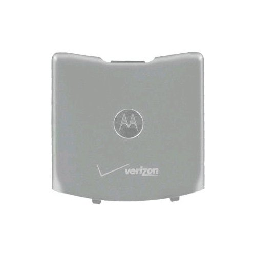 (OEM Motorola RAZR V3m Standard Battery Door / Cover - Silver)