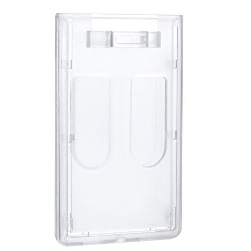 Double Card ID Slot Heavy Duty Badge Holders Vertical with Thumb Slots,8 - Double Badge Reel
