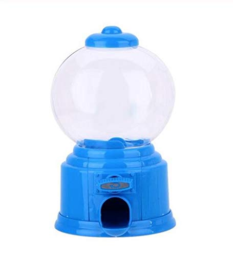 MEIYINGBI Creative Cute Sweets Mini Candy Machine Bubble Gumball Dispenser Coin Bank Kids Toy Warehouse Price Chrismas Birthday Gift,Blue]()