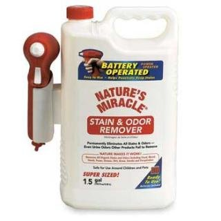 - Nature's Miracle Stain & Odor Remover, Power Sprayer 192 oz