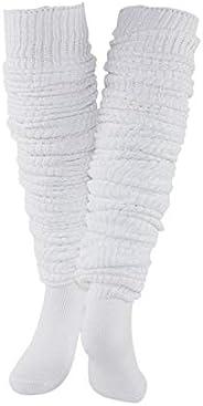 Loose Socks Extra Knit Loose Socks White Leg Warmer Bubble Japanese Student Girl's Socks Loose Stockings S