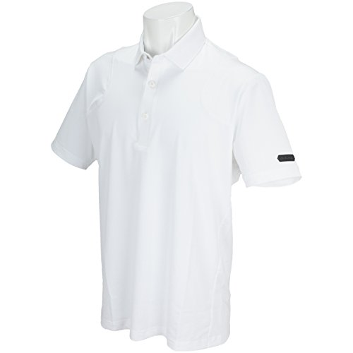 ブリヂストン TOUR B ULTICORE 半袖シャツ?ポロシャツ ストレッチ 半袖3D解析ポロシャツ ホワイト M