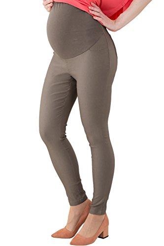 Sweet Mommy Skinny Leg Maternity Colored Pants, Vintage Khaki, L (=US Size: ()