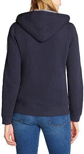 Nautica Womens Signature Logo Full Zip Hoodie Sweatshirt Jacket