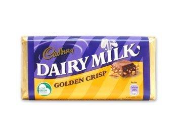 Cadburys Golden Crisp (Dairy Milk Golden Crisp 10 bars)