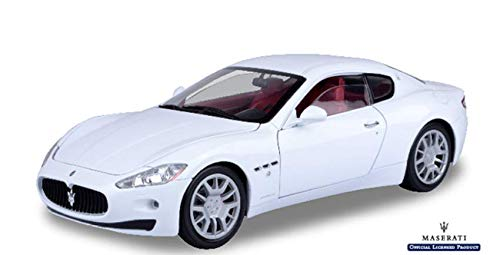- Motormax Die-Cast Collection 1:18 Maserati Gran Turismo, White (Color May Vary)