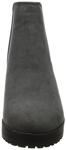 New Botas Grey Look Column para Mid Chelsea Mujer Grey rqr4E