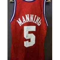 Danny Manning Signed (Signed Manning, Danny (Los Angeles Clippers) Authentic Los Angeles Clippers Jersey size 44 (Light Signature))