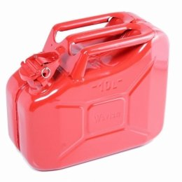 10L / 2.68 US Gallon NATO Spec Steel Jerry Can Military RED Plus Spout Nozzle