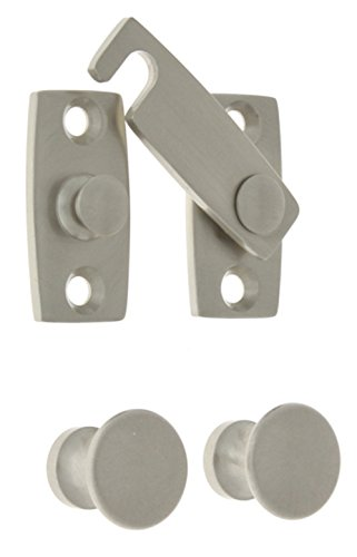 Satin Brass Latches (idh by St. Simons 21021-015 Professional Grade Quality Genuine Solid Brass Shutter bar Kit, Satin Nickel)