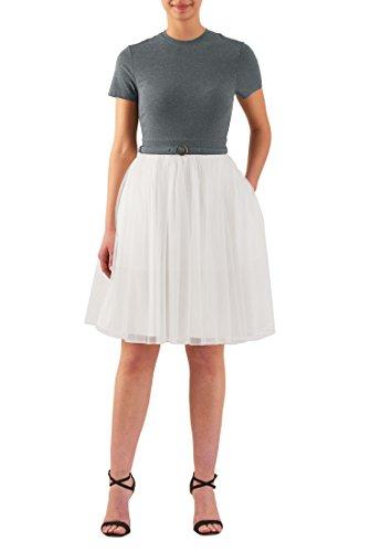 mixed pleat dress - 8