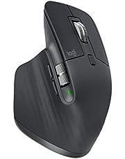 Mouse sem fio Logitech MX Master 3 com Sensor Darkfield para Uso em Qualquer Superfície, Conexão USB Unifying ou Bluetooth com Easy-Switch para até 3 dispositivos e Bateria Recarregável