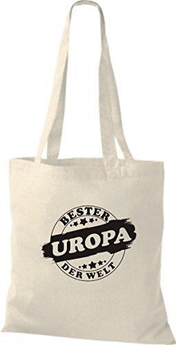 ShirtInStyle Bolso de tela Bolsa de algodón Bester UROPA der Welt natural