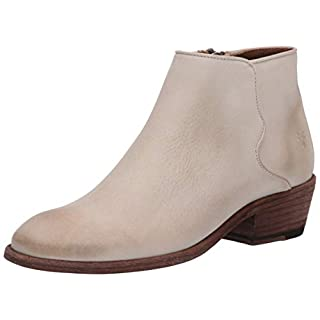 Frye Women's Carson Piping Bootie Ankle Boot, Ivory, 6 Medium US