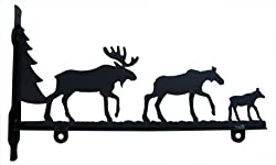New - Moose Family Sign Bracket By Village Wrought Iron Inc