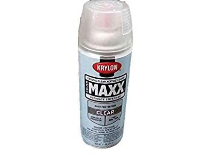 Krylon K09116000 COVERMAXX Spray Paint, Gloss Crystal Clear Acrylic, 11  Ounce