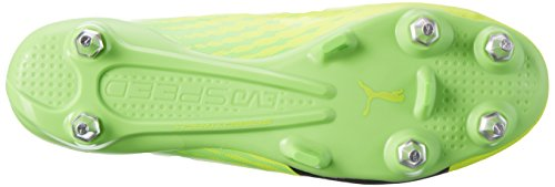Puma Evospeed 17 SL S MX SG, Scarpe da Calcio Uomo Giallo (Safety Yellow-puma Black-green Gecko 01)