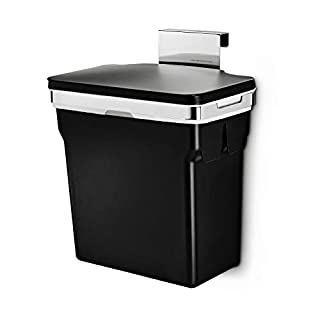 simplehuman 10 Liter / 2.6 Gallon In-Cabinet Trash Can, Heavy-Duty Steel Frame, Black (B00DMMW22W) | Amazon price tracker / tracking, Amazon price history charts, Amazon price watches, Amazon price drop alerts