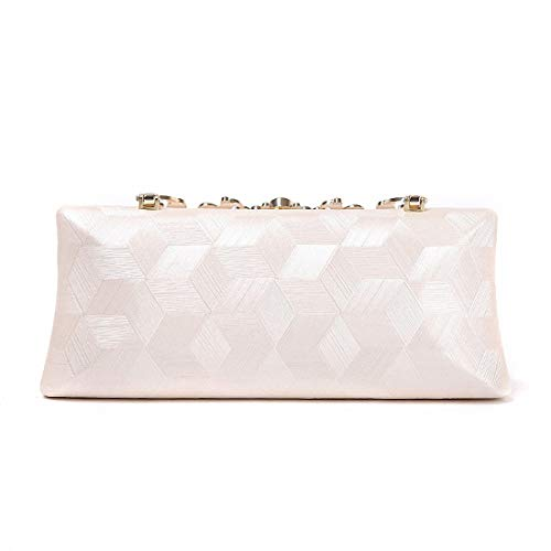 Pink Suction Evening Leather Button Rectangular Elegant Magnetic Bag Soft Dinner Clutch Fashionable Women Pink Bag Checked Dress UBqZOn4
