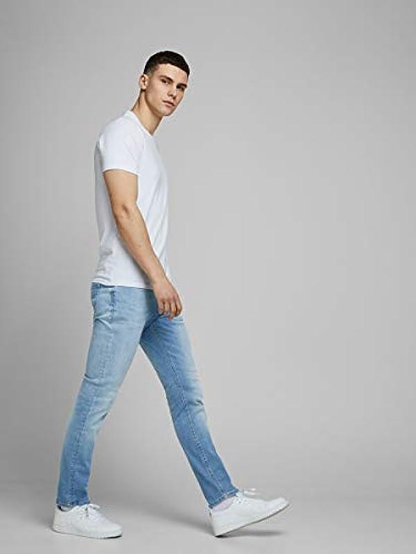 JACK & JONES Męskie dżinsy Slim Fit Glenn Original AGI 002: Odzież