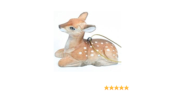 Amazon Com Fawn Wood Carved Collectible Ornament Hanger 2 75 Inch Home Kitchen