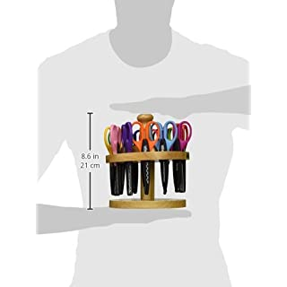 School Smart Paper Edger Scissors, 6-1/2 x 2-1/2 Inches, Assorted Colors, Set of 12