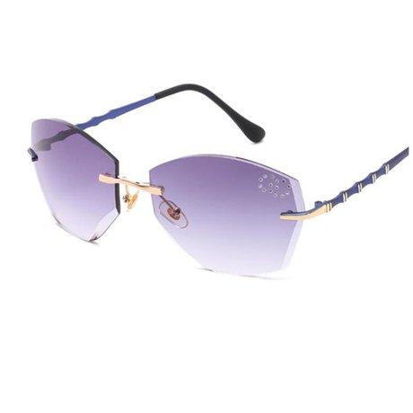 corte mujer graduadas la Gafas marca cuadradas sol Gray montura Púrpura GGSSYY para Diseñador Gafas gradual sin con de de xSWOZqB