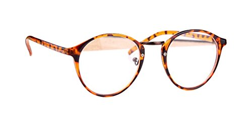 Leopard Fashion Retro Cute Designer Classic Round glasses Nerd Geek Clear Lens - Geek Sale Glasses For