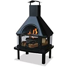 WAF1013C - BLUE RHINO WAF1013C UF 45inHgh Otdr Firehouse Blk Details about NEW Blue Rhino WAF1013C Outdoor Wood Burning Fireplaces