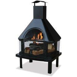 WAF1013C - BLUE RHINO WAF1013C UF 45inHgh Otdr Firehouse Blk Details about NEW Blue Rhino WAF1013C Outdoor Wood Burning Fireplaces