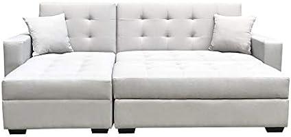Amazon.com: BroyerK 3 pc Reversible Sleeper Sectional Sofa ...