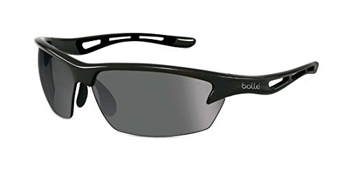 Bolle Bolt Sunglasses, Shiny Black/PC Polarized TNS Oleo AF - Sport Sunglasses Bolle