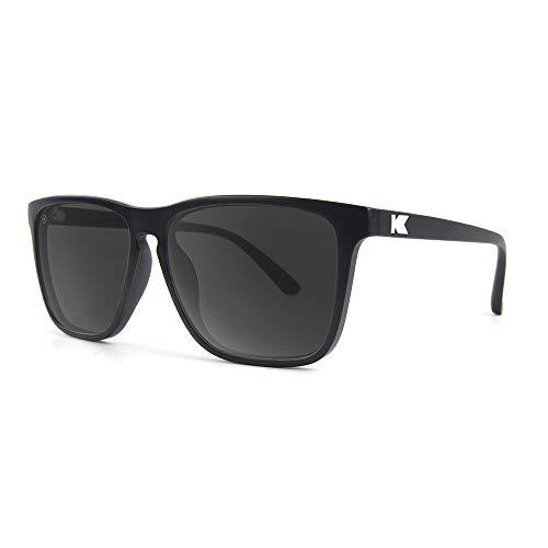 Knockaround Fast Lanes Unisex Sunglasses With UV400 Protection, Matte Black Frames/Black ()