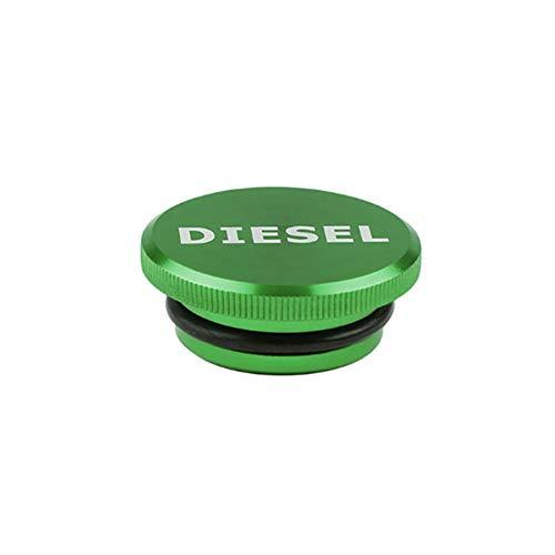 HsgbvictS Fuel Cap Car Interior Parts Protective Cover Diesel Billet Aluminum Fuel Cap Magnetic Cover for 2013-2017 Dodge Ram Truck - Green