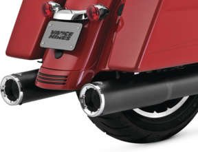 Vance & Hines Hi Output Slip Ons Black with Chrome Tips 46463 (Tips Hines Vance Exhaust)