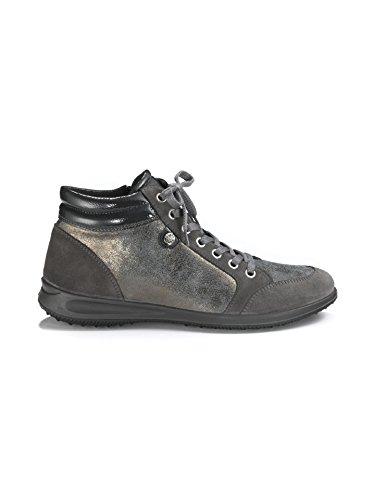 Avena Damen Antishock-Sneaker Leichtgewicht Rindsvelours Grau 7oOyQU