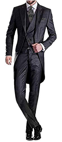 135fdbfd Everbeauty Men's Handsome 3 Pieces Tailcoat Suit Set Business Suit For Men  2018 for $<