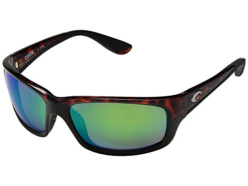 Costa Del Mar Jose Sunglasses, Tortoise, Green Mirror 580 Plastic ()