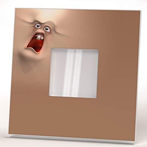 3D Animados Gritando Gracioso Miedo Cara Dibujos Espejo De Pared Marco Espejo Arte Diseño Regalo