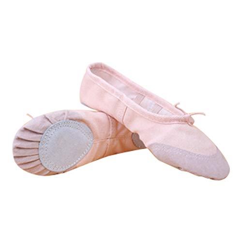 Shoes Canvas Leather Adult's Womens Sole Yoga Ballet Children's Flat Girls Pumps Soft Dance Ballerinas Pink Sizes Gymnastic Frestepvie w4IBxx