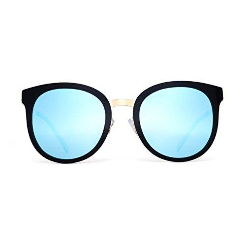 Gafas Manera Las Que La Marea Azul Harajuku Color De Oval Femenina LIZHIQIANG Sol Conduce Marco Gafas De De Sol De Polarizada Azul tqw764I