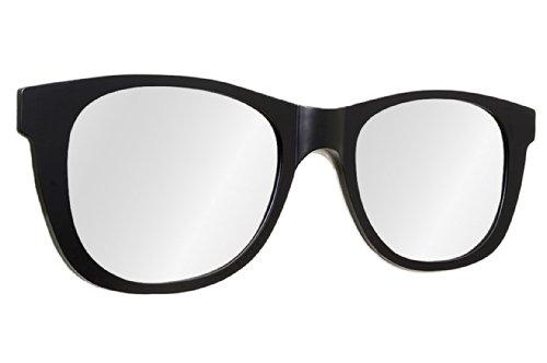 Oversized Classic Matte Black Sunglasses Modern Wall Mirror 46 in x 13 - Wall Mirror Sunglasses