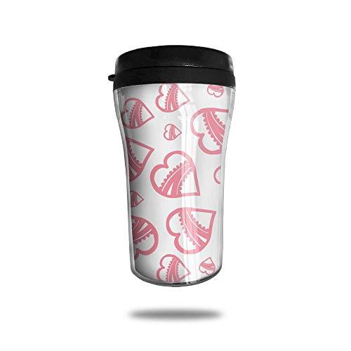 with Lid, Texture Heart Personalized Custom 250ml Coffee Cup Tea Mug Travel Vacuum Mugs Drink Bottle ()