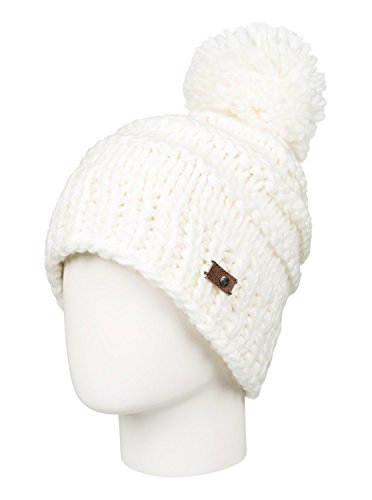 Roxy SNOW Women's Winter Pom Pom Beanie, Bright White, One Size