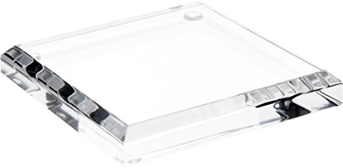 Acrylic Base - Plymor Brand Clear Acrylic Square Beveled Display Base.5