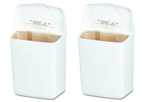 Hospeco Feminine Hygiene Receptacle, White ABS Plastic, 250-201W (2-Pack) by Hospital Specialty Co. (Image #4)