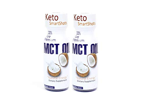 MCT Oil Keto Fuel Shots Blue Bottles Natural Coconut Ketone Energy C8 Caprylic Acid C10 Medium Triglycerides for Ketosis Butter Coffee Shakes Vegan Salad Dressings Smart Snacks Brain Oils 2Pack Review