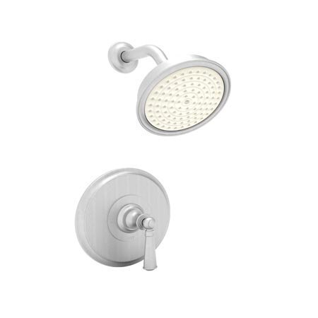 Newport Brass 3-2454BP/15S Sutton Single Handle Shower Valve Trim with Showerhead and Lever Handle, Satin Nickel