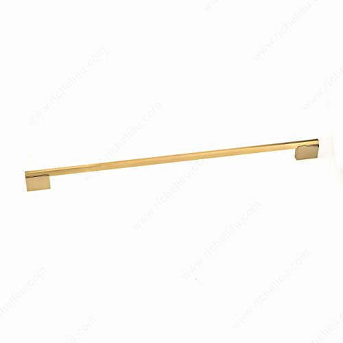 Richelieu Hardware - New Collection - Contemporary Metal Pull - 7990512131165 (512mm, Metallic Gold/Brushed Gold - 131/165)
