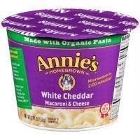 ANNIES HOMEGROWN PASTA CUP WHITE CHDR, 2.01 OZ